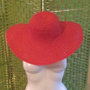 🌹NWOT Amazing Big Floppy Red Hat Wardrobe Must